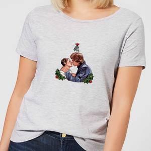 Star Wars Mistletoe Kiss Women's Christmas T-Shirt - Grey