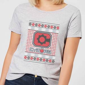 DC Cyborg Knit Damen Christmas T-Shirt - Grau