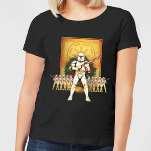 Star Wars Candy Cane Stormtroopers Women's Christmas T-Shirt - Black