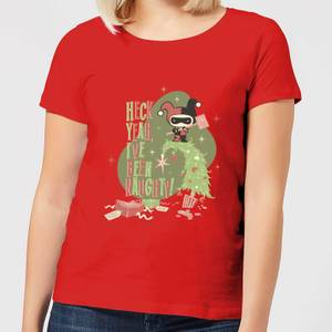 DC Heck Yeah I've Been Naughty! Women's Christmas T-Shirt - Red