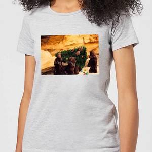 Star Wars Jawas Christmas Tree Women's Christmas T-Shirt - Grey