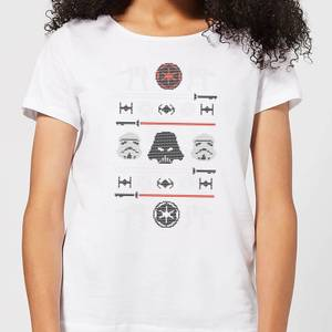Star Wars Imperial Knit Women's Christmas T-Shirt - White