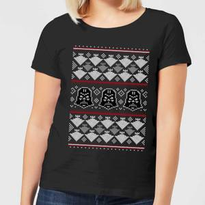 Star Wars Imperial Darth Vader Women's Christmas T-Shirt - Black