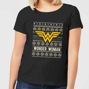 DC Wonder Woman Women's Christmas T-Shirt - Black