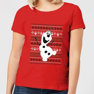 Disney Frozen Olaf Dancing Women's Christmas T-Shirt - Red