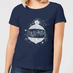 Harry Potter Yule Ball Baubel Women's Christmas T-Shirt - Navy