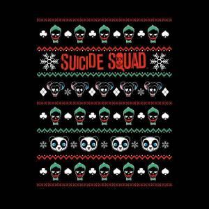 DC Suicide Squad Knit Pattern Women's Christmas Sweatshirt - Black
