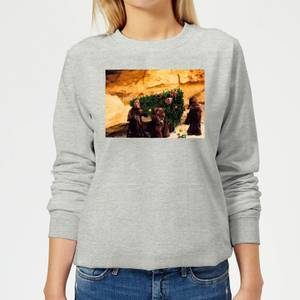 Star Wars Jawas Christmas Tree Women's Christmas Sweatshirt - Grey