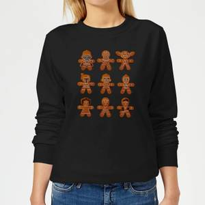 Star Wars Gingerbread Characters Women's Christmas Sweater - Black