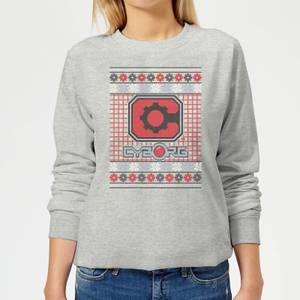 DC Cyborg Knit Women's Christmas Sweatshirt - Grey