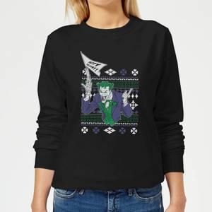 DC Joker Women's Christmas Sweatshirt - Black