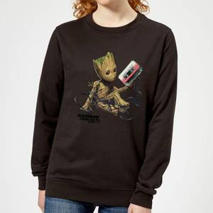 Guardians Of The Galaxy Groot Tape Women's Christmas Sweater - Black