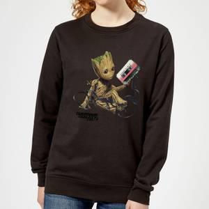 Guardians Of The Galaxy Groot Tape Women's Christmas Sweatshirt - Black