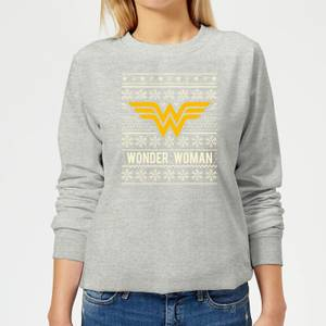 Felpa DC Wonder Woman Christmas - Grigio - Donna