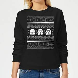 Star Wars Stormtrooper Knit Women's Christmas Sweater - Black