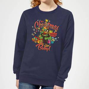 Looney Tunes Its Christmas Baby Women's Christmas Sweatshirt - Navy