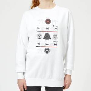 Star Wars Imperial Knit Women's Christmas Sweatshirt - White