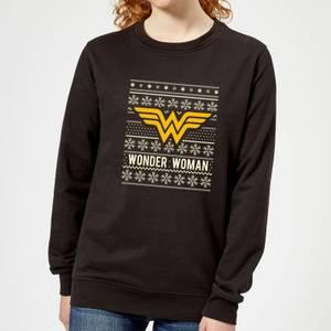 DC Wonder Woman Women's Christmas Sweater - Black