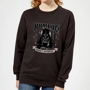 Star Wars Darth Vader Humbug Women's Christmas Sweatshirt - Black