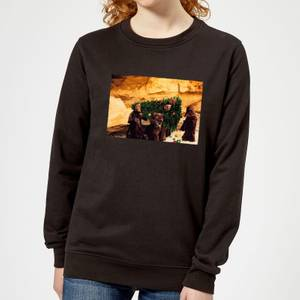 Star Wars Jawas Christmas Tree Women's Christmas Sweatshirt - Black