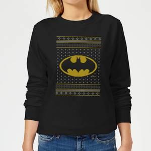 DC Batman Knit Women's Christmas Sweater - Black
