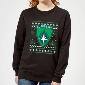 Guardians Of The Galaxy Badge Pattern Christmas Women's Christmas Sweatshirt - Black