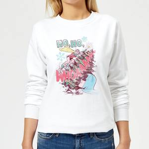 DC Ho Ho Whoaaaaaaa Women's Christmas Sweater - White