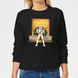 Star Wars Candy Cane Stormtroopers Women's Christmas Sweatshirt - Black