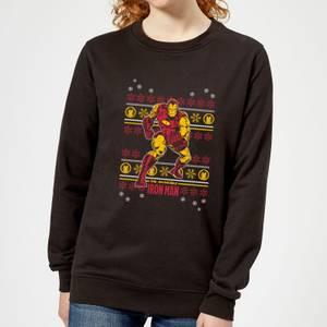 Marvel Iron Man Women's Christmas Sweatshirt - Black