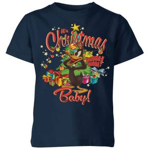 Looney Tunes Its Christmas Baby Kids' Christmas T-Shirt - Navy