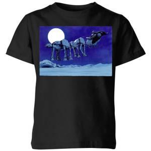 Star Wars AT-AT Darth Vader Sleigh Kids' Christmas T-Shirt - Black