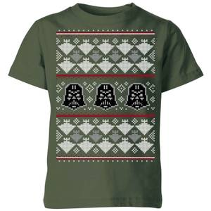 Star Wars Imperial Darth Vader Kids' Christmas T-Shirt - Forest Green
