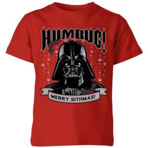 Star Wars Darth Vader Humbug Kids' Christmas T-Shirt - Red