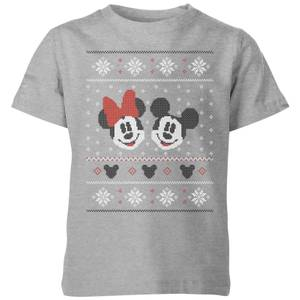 Disney Mickey and Minnie Kids' Christmas T-Shirt - Grey