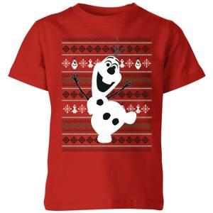 Disney Frozen Olaf Dancing Kids' Christmas T-Shirt - Red