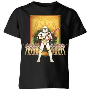 Star Wars Candy Cane Stormtroopers Kids' Christmas T-Shirt - Black