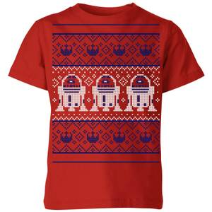 Star Wars R2-D2 Knit Kids' Christmas T-Shirt - Red