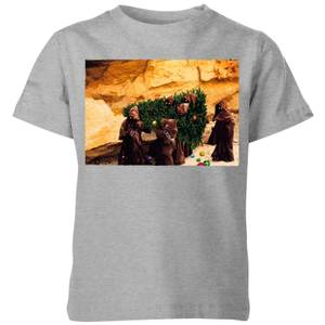 Star Wars Jawas Christmas Tree Kids' Christmas T-Shirt - Grey