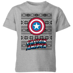 Marvel Captain America Kids' Christmas T-Shirt - Grey