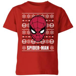 Marvel Spider-Man Kids' Christmas T-Shirt - Red