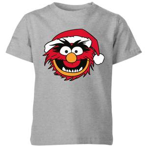 T-Shirt The Muppets Animal Christmas - Grigio - Bambini