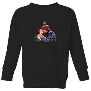 Star Wars Mistletoe Kiss Kids' Christmas Sweater - Black
