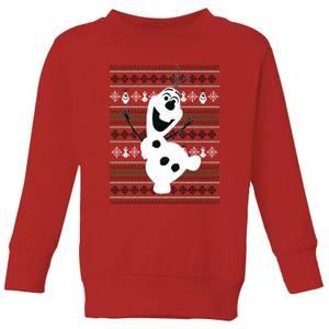 Disney Frozen Olaf Dancing Kids' Christmas Sweater - Red