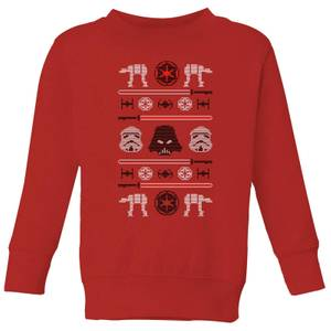 Felpa Star Wars Imperial Knit Christmas- Rosso - Bambini