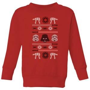 Star Wars Imperial Knit Kids' Christmas Sweatshirt - Red