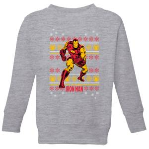 Marvel Iron Man Kids' Christmas Sweatshirt - Grey