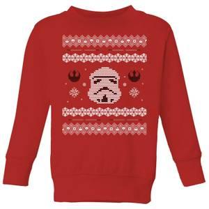 Star Wars Stormtrooper Knit Kids' Christmas Sweatshirt - Red