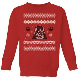 Star Wars Darth Vader Knit Kids' Christmas Sweater - Red