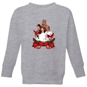 Star Wars Jedi Carols Kids' Christmas Sweatshirt - Grey