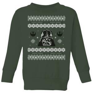 Star Wars Darth Vader Knit Kids' Christmas Sweatshirt - Forest Green